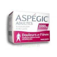 Aspegic Adultes 1000 Mg, Poudre Pour Solution Buvable En Sachet-dose 20 à SOUMOULOU