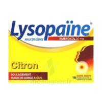 LysopaÏne Ambroxol 20 Mg Pastilles Maux De Gorge Sans Sucre Citron Plq/18 à SOUMOULOU