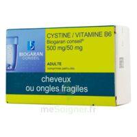 Cystine/vitamine B6 Biogaran Conseil 500 Mg/50 Mg Cpr Pell Plq/120 à SOUMOULOU
