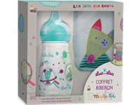 "Coffret Biberon 270 Ml + Bavoir ""collection Capsule Moulin Roty"" à SOUMOULOU"