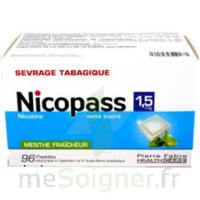 Nicopass 1,5 Mg Pastille Sans Sucre Menthe Fraîcheur Plq/96 à SOUMOULOU