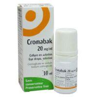 Cromabak 20 Mg/ml, Collyre En Solution à SOUMOULOU