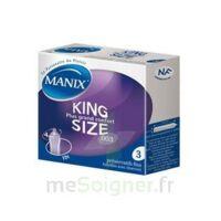 Manix King Size Préservatif Avec Réservoir Lubrifié Confort B/3 à SOUMOULOU