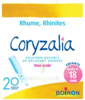 Boiron Coryzalia Solution Buvable Unidose B/20 à SOUMOULOU